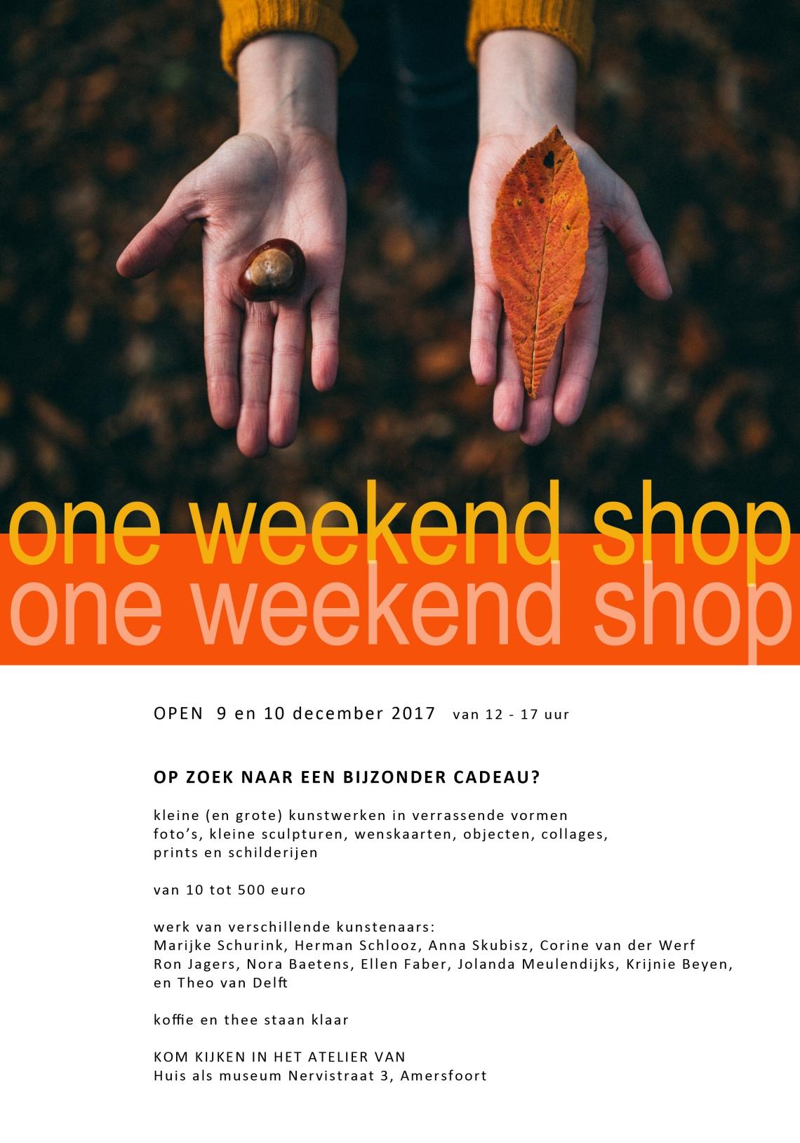 affiche One weekend shopkopie